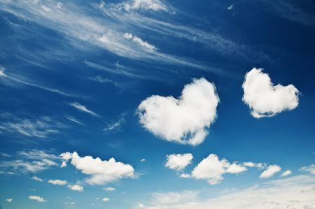 heart from cloud on sky   photo
