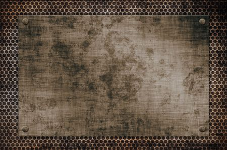 durability:  illustration of old metal texture