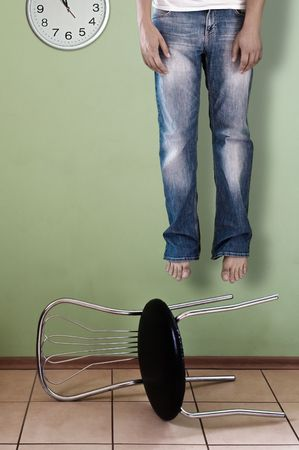 dead men and falling down chair Stock Photo - 5417422