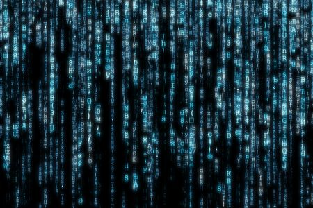 blue matrix background computer generated