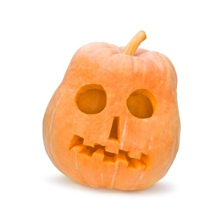 halloween pumpkin isolated on white Stock Photo - 5462219