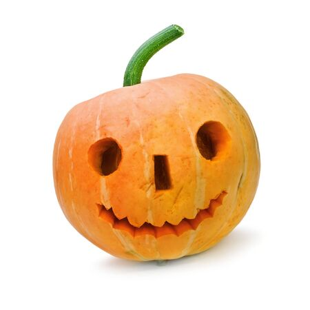 halloween pumpkin isolated on white Stock Photo - 5538413