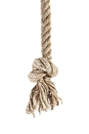 hanging up: knot isolated on white background   Stock Photo