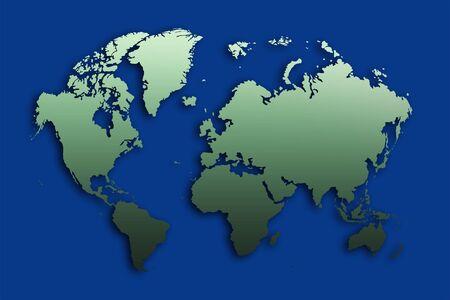 the blue world map illustration  illustration