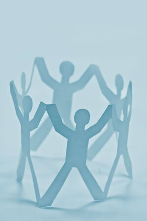 paper people in circle closeup Stock Photo - 5740145