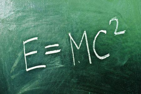 mathematical formula on blackboard closeup  photo