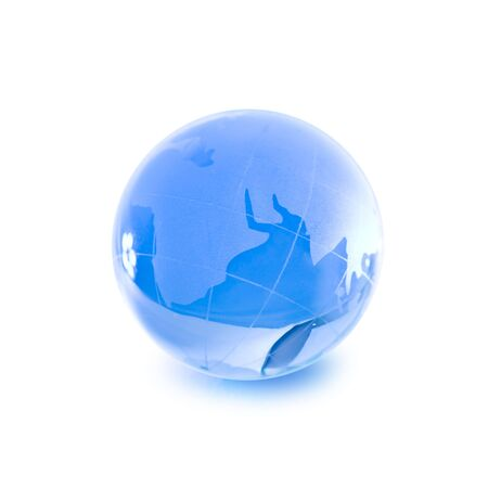 glass globe isolated on white background  photo