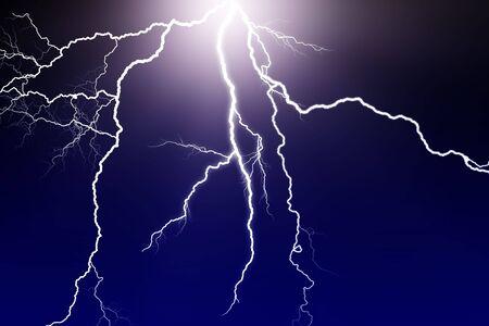 lightning storm: lightning flash in dark sky