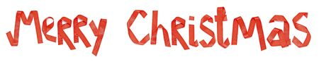 merry christmas word from ribbon   photo