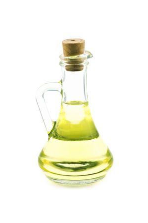oil bottle: oil bottle isolated on white