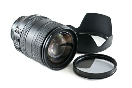 set of lens isolated on white  Stock Photo - 5886200