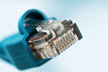 bandwidth: blue internet bandwidth close up Stock Photo