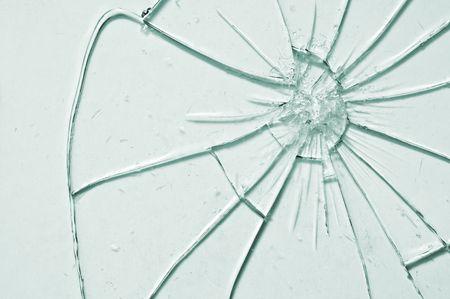 demolish: break glass background close up