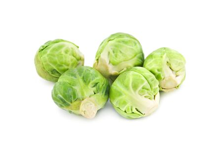 brussel: brussel cabbage isolated on white Stock Photo