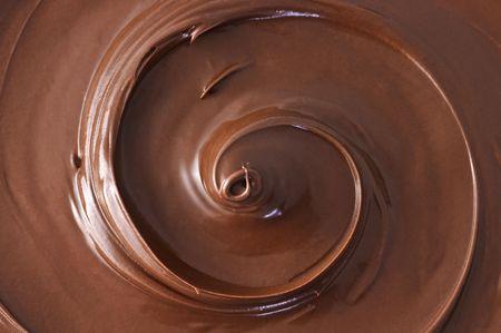black chocolate swirl close up
