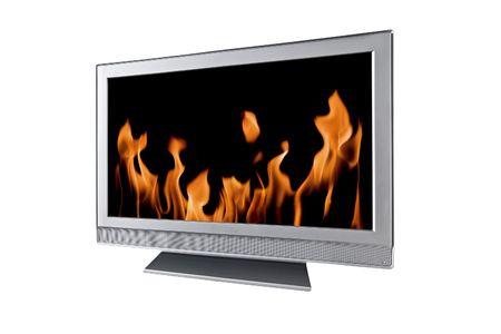 large modern tv isolated on white Stock Photo - 6227712