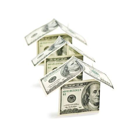 house from dollar cash closeup photo