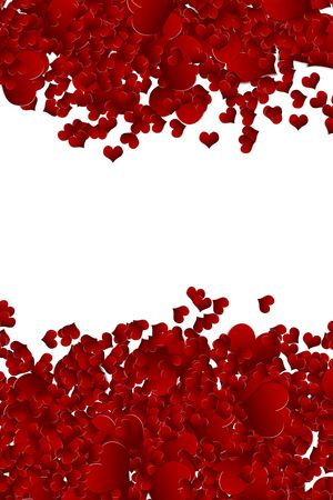 valentine background from heart confetti Stock Photo - 6458134