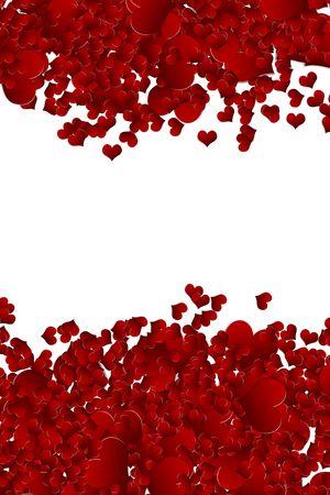 Valentine Hintergrund von Herzen Konfetti Standard-Bild