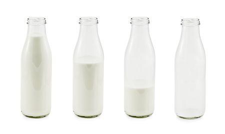 Evolution von isolierten Milchflaschen