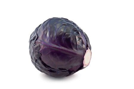 red cabbage isolated on white photo