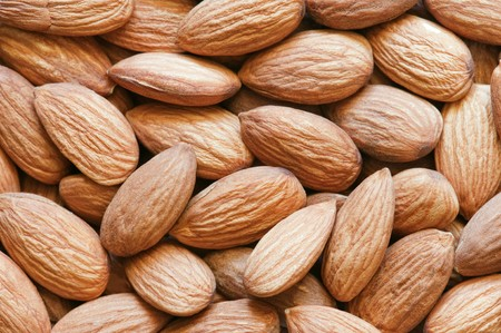 stack of almond close up photo
