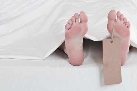 dead body feets with label Stock Photo - 6979263