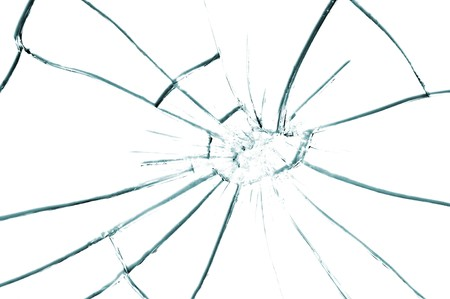 cracked glass: broken glass texture close up Stock Photo