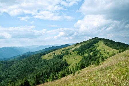 Carpathians mountain in summer time photo