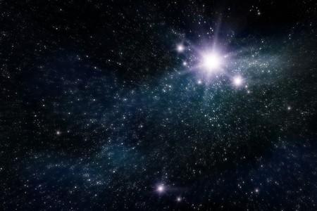 abstract Space und Sterne Hintergrund