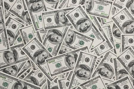 benjamin: hundred dollars note close up