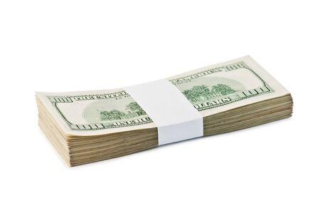 dollar heap isolated on white photo