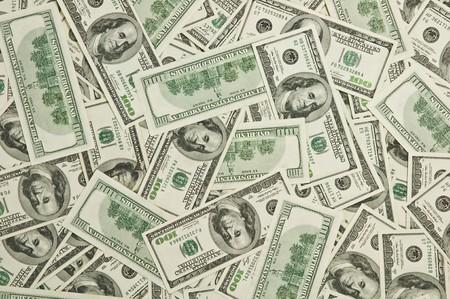 hundred dollars note close up photo