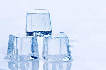 freshness blue ice cube closeup photo