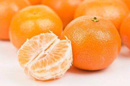 mandarins: ripe orange mandarins close up