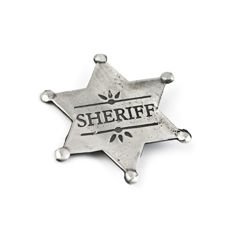 sheriff badge: estrella de Sheriff aislado en blanco