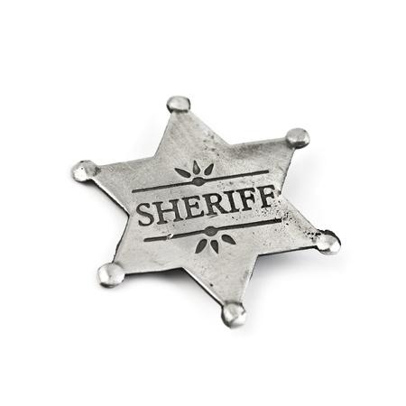 Sheriff-Star, isoliert auf weiss