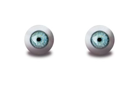 human eyes isolated on white