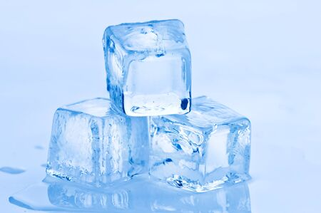 freshness blue ice cube closeup Stock Photo - 8484233