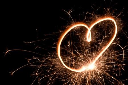heart shape from banger light photo