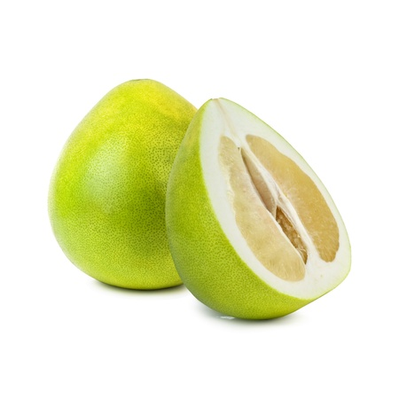 pummelo: pomelo fruit isolated on white