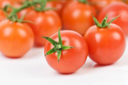 tomato cherry: fresh tomato cherry closeup Stock Photo