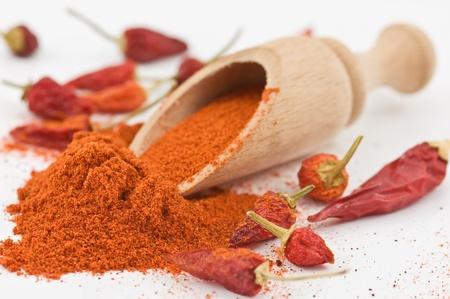 trockene rote Paprika close up