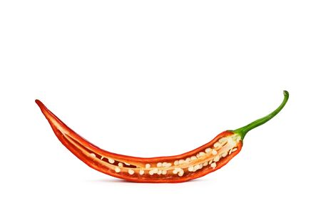 red hot chili pepper isolated photo