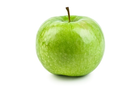 green apple isolated on white photo