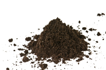 soil heap isolated on white