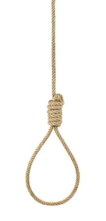 noose: gallows isolated on white background Stock Photo