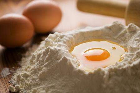 haciendo pan: masa en las manos de cerca