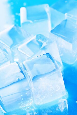 freshness blue ice cube closeup Stock Photo - 13662422