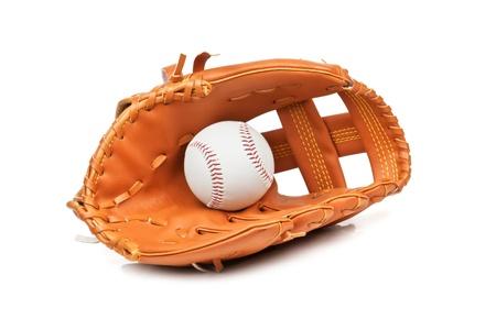 baseball ball in leather glove Stock Photo - 13662402